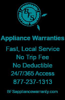 Appliance Warranties Ad